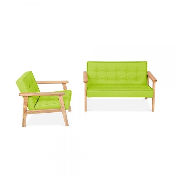 cult living millie kids sofa in green pu cult furniture uk. Black Bedroom Furniture Sets. Home Design Ideas
