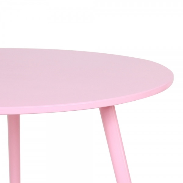 Pastel Side Table ~ Cult living pink cm pop side table in solid wood
