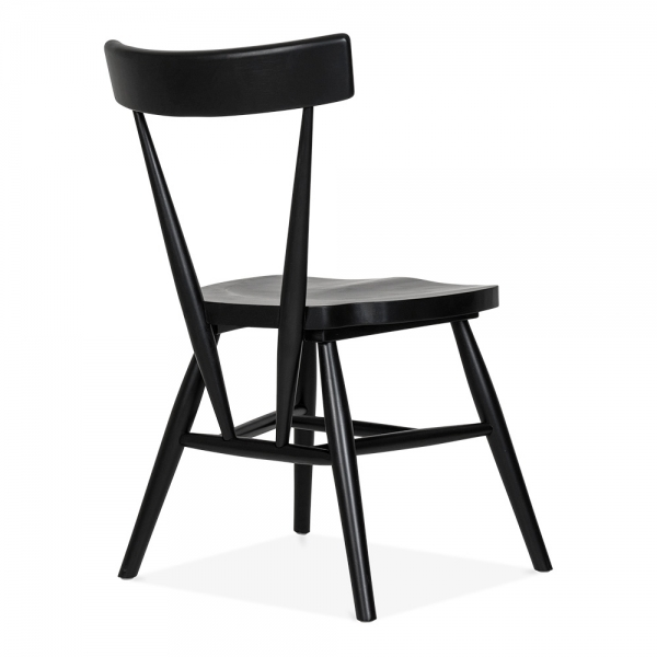 Cult Living Trafik Stackable Dining Chair In Black