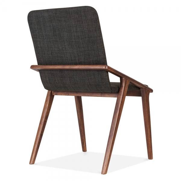 cult living flight upholstered dining chair dark grey