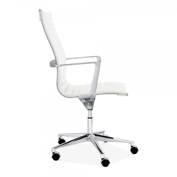 clearance office chair. Cult Living Ribbed Office Chair With High Back - White Clearance Sale