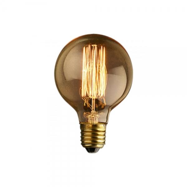 Light Bulb Medium Globe G80 Squirrel Filament Cult