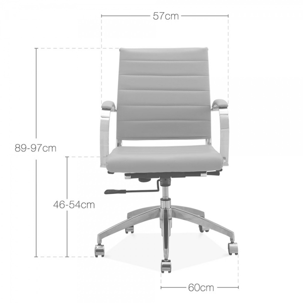 Cult Living Deluxe Grey Office Chair Eames Inspired Cult UK - Grey office chair