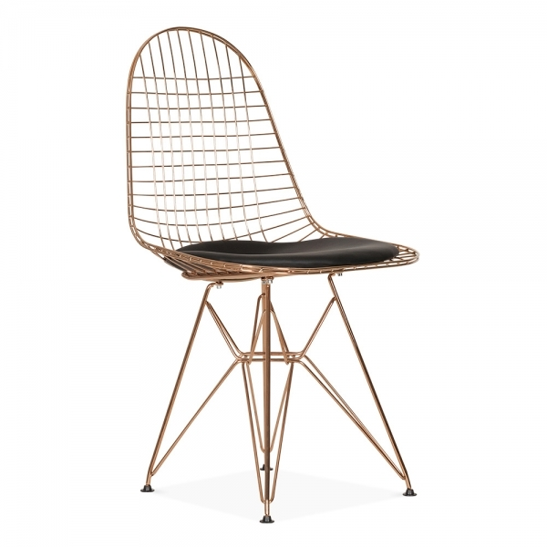 Eames copper dkr wire chair cafe dining chairs cult for Chaise wire eames