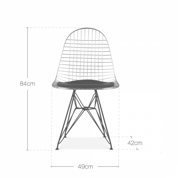 eames inspired copper dkr wire chair u2039