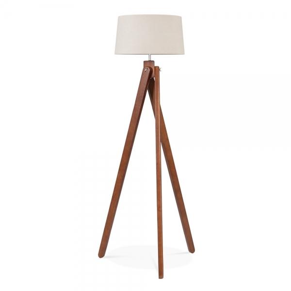 cult living tripod wooden floor lamp walnut vintage lamps uk canada base ikea
