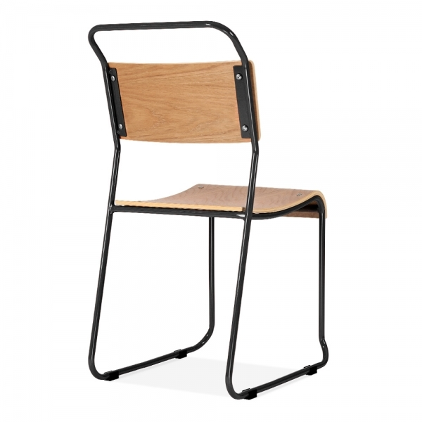 Black Stackable Chairs bauhaus industrial black stackable chair | dining chairs | cult uk