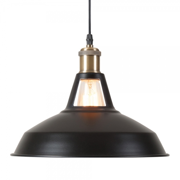 cult living bushwick industrial pendant light black