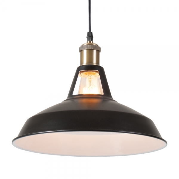 Black Industrial Light Part - 36: ... Cult Living Bushwick Industrial Pendant Light - Black ...