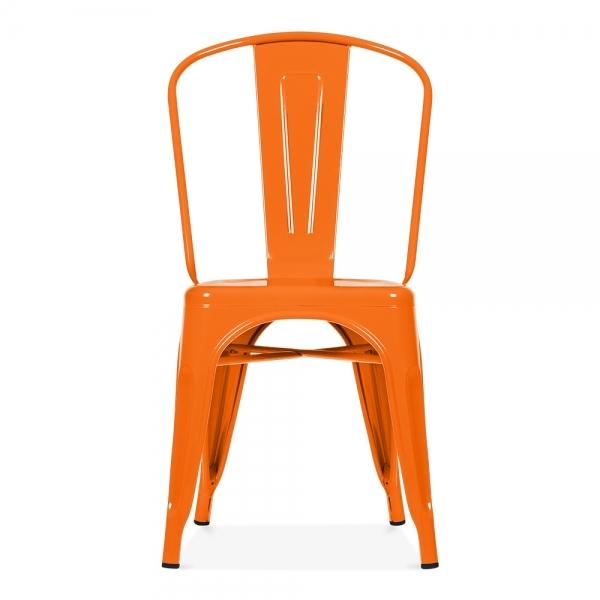 Xavier Pauchard Style Orange Powder Coated Chair  Cult