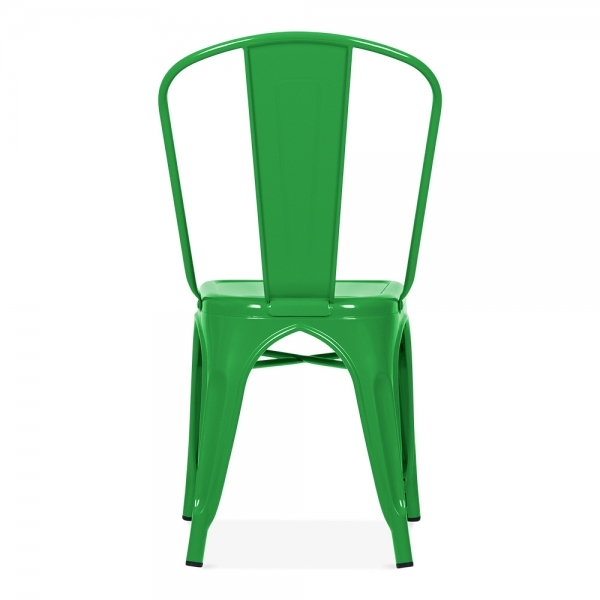 ... Xavier Pauchard Tolix Style Metal Side Chair   Green ...