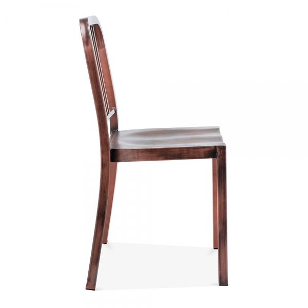 ... Navy Style Metal Dining Chair 1006   Brushed Copper ...