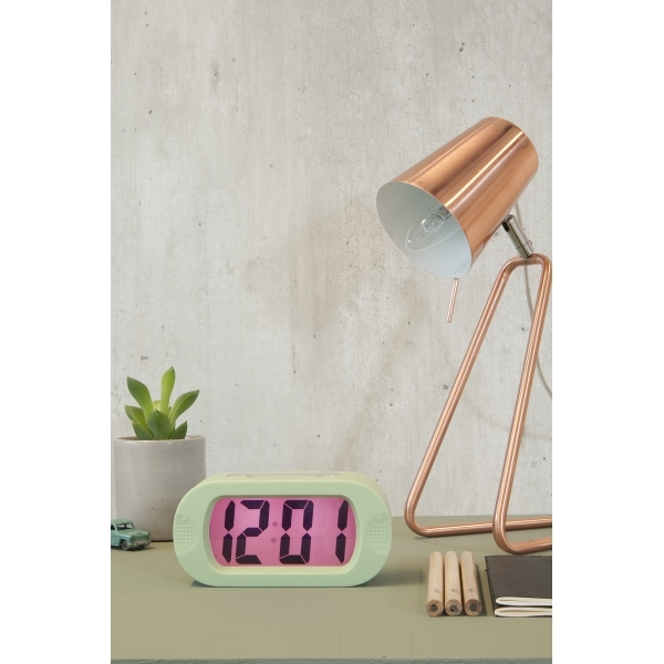 Present time z style metal table lamp copper cult furniture for Leitmotiv table lamp z metal