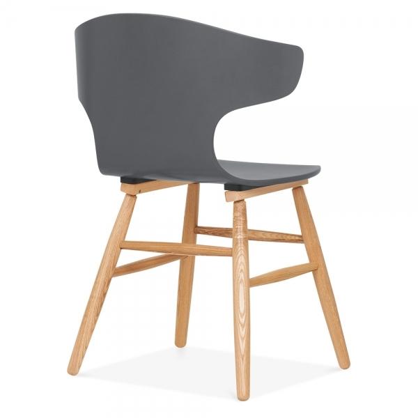 cult living elin curved back dining chair grey cult furniture uk. Black Bedroom Furniture Sets. Home Design Ideas