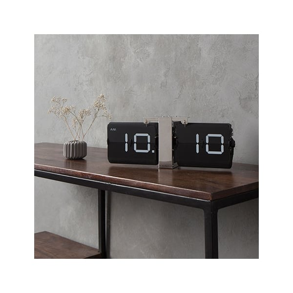 black and silver furniture. cloudnola flipping out wall clock black silver and furniture
