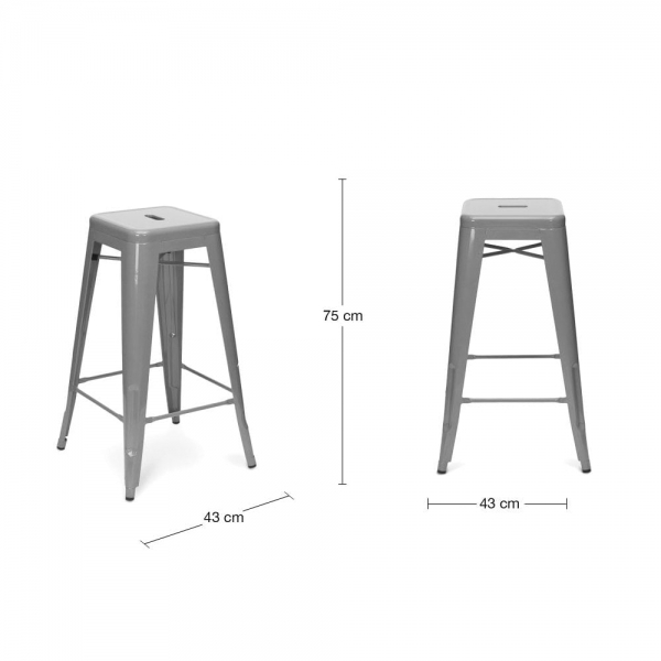 Tolix style bar stool with cushion colour option rustic - Imitation tolix tabouret ...