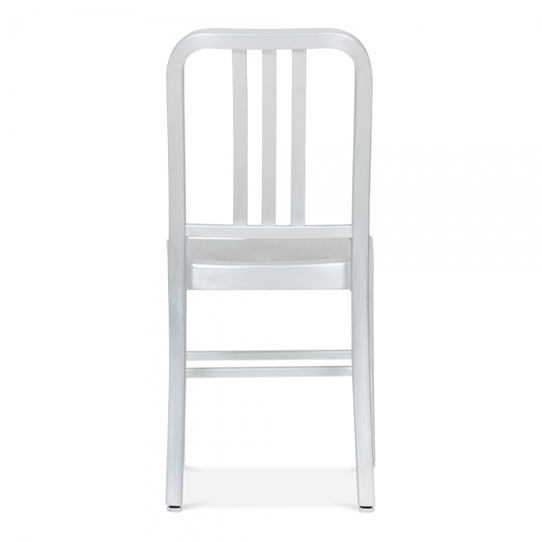 metal dining chair. navy style metal dining chair 1006 - silver anodized