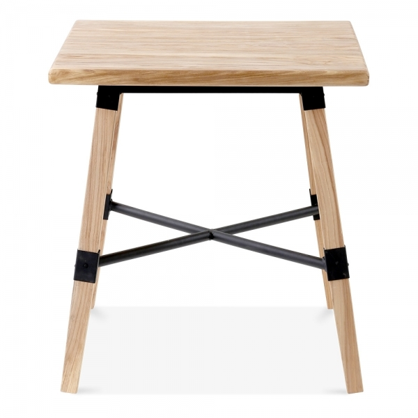 Natural Wood Bastille Square Dining Table Natural 70cm  : 1482232013 14289300 from www.cultfurniture.com size 600 x 600 jpeg 103kB