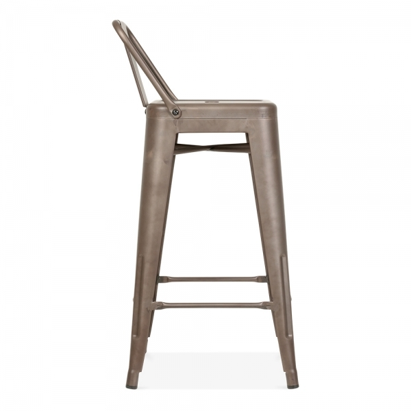 Tolix Style Metal Bar Stool with Low Back Rest Rustic 65cm  : 1484649628 92862300 from www.cultfurniture.com size 600 x 600 jpeg 76kB