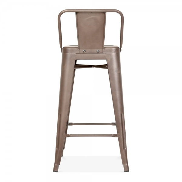 Tolix Style Metal Bar Stool with Low Back Rest Rustic 65cm  : 1484649633 76296500 from www.cultfurniture.com size 600 x 600 jpeg 82kB