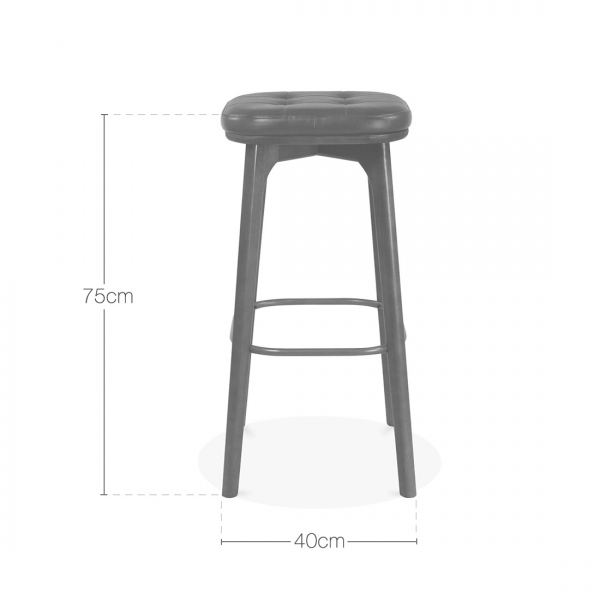 Winchester Upholstered Wooden Bar Stool Grey amp Walnut 75cm  : 1484818521 85727900 from www.cultfurniture.com size 600 x 600 jpeg 75kB
