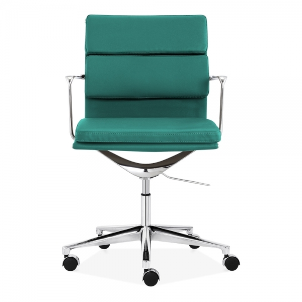 Soft Pad Office Chair With Short Back Teal Cult Furniture Uk