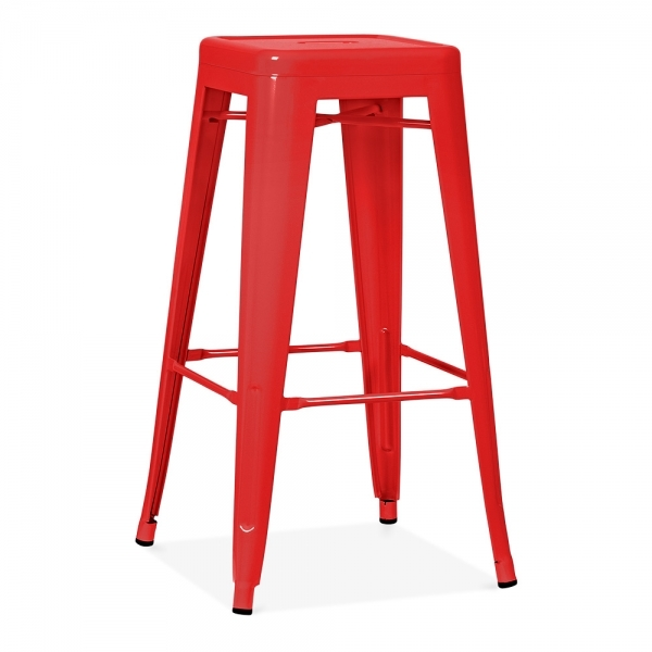 sc 1 st  Cult Furniture & Red Powder Coated 75cm Tolix Style Stool | Industrial Stools | Cult UK islam-shia.org
