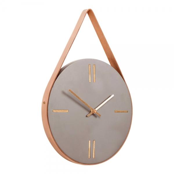 Concrete Hanging Wall Clock Gold Cult Furniture UK