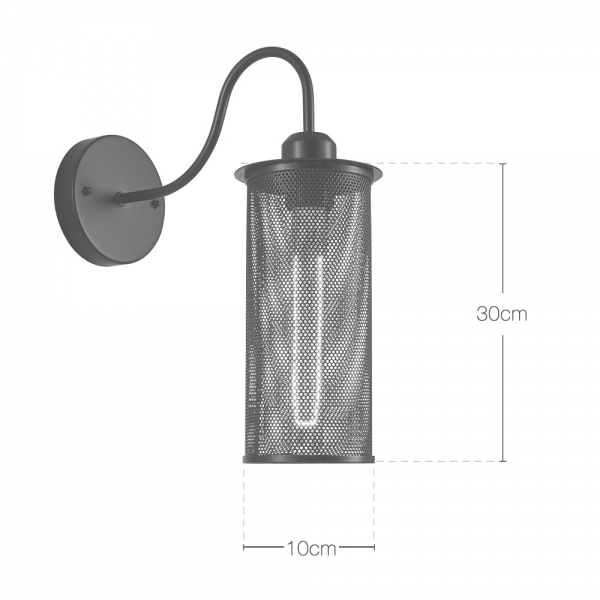 Cult Living Perforated Metal Sconce Wall Light With Curved Arm