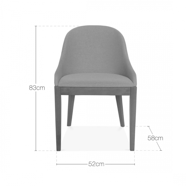 Cult Living Forenzi Upholstered Dining Chair   Walnut   Light Grey   Forenzi Light Grey Upholstered Dining Chair   Cult Furniture UK. Grey Upholstered Dining Chairs. Home Design Ideas