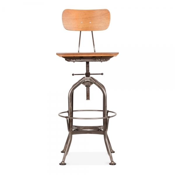 Toledo Style Swivel Bar Stool Gunmetal cm