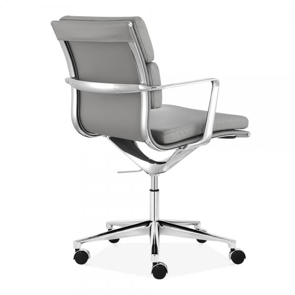 cult living grey short back soft pad office chair | cult uk