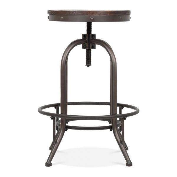 toledo style trax metal swivel bar stool rustic 65cm cult uk. Black Bedroom Furniture Sets. Home Design Ideas