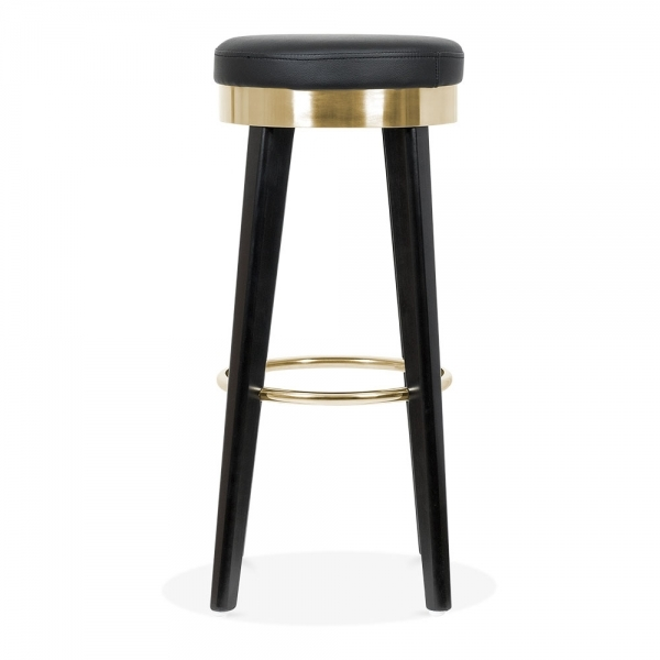 Fusion Wooden Bar Stool with Metal Ring Black Gold 75cm : 1488816769 04699700 from www.cultfurniture.com size 600 x 600 jpeg 77kB