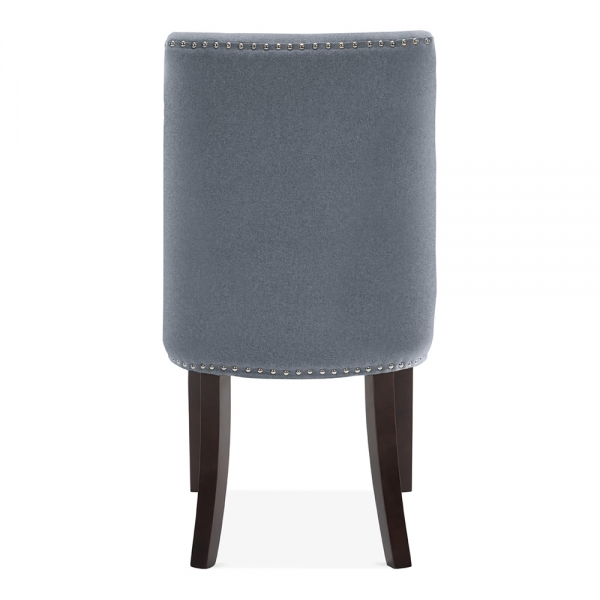 ... Cult Living Russell Scoop High Back Chair, Fabric Upholstered, Blue ...