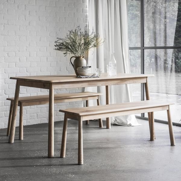 Alpine modern oak dining table oak dining furniture for Modern oak dining table