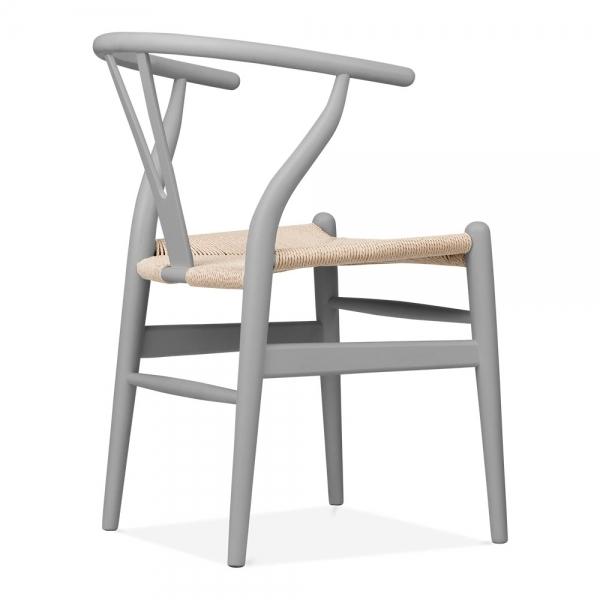 danish designs wishbone chair grey natural