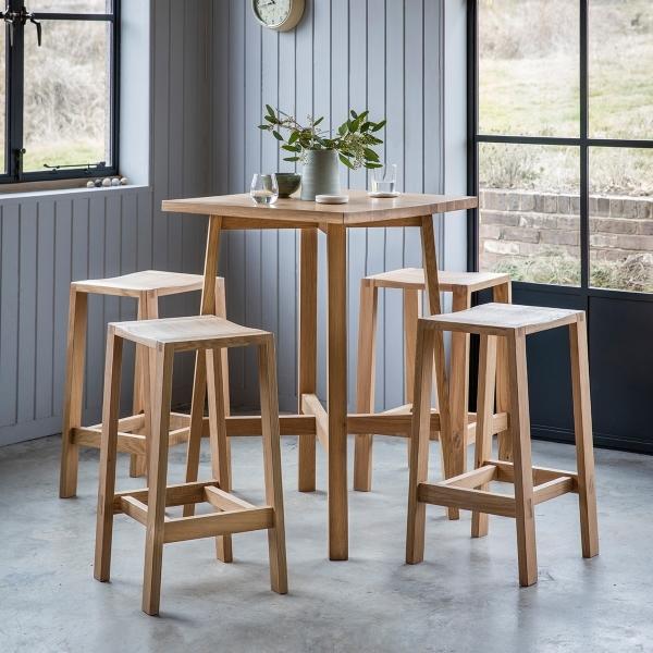 Modern Kitchen Bar Table: Waldorf Contemporary Oak Breakfast Bar Stool