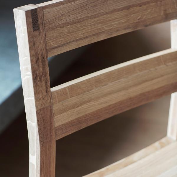 waldorf ladder back dining chairs set of 2 oak