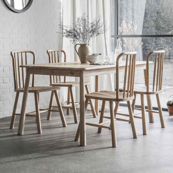 ... Alpine Windsor Dining Chairs Set Of 2, Oak. U2039