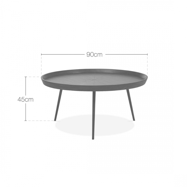 Coffee Table Dimensions Round Coffee Table Big Coffee: Gatsby Large Round Brown Wood Coffee Table