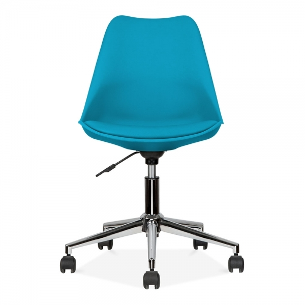eames inspired office chair. Eames Inspired Office Chair With Soft Pad Seat, Marine Blue G