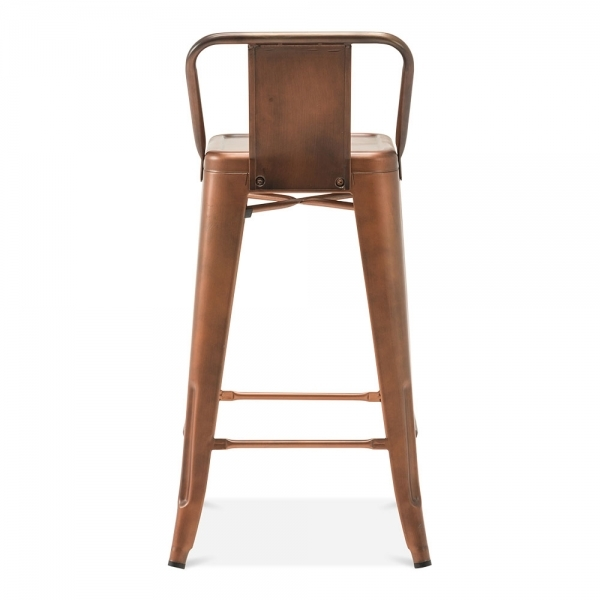 Tolix Style Metal Bar Stool with Low Back Rest Vintage  : 1495011459 09606200 from www.cultfurniture.com size 600 x 600 jpeg 85kB