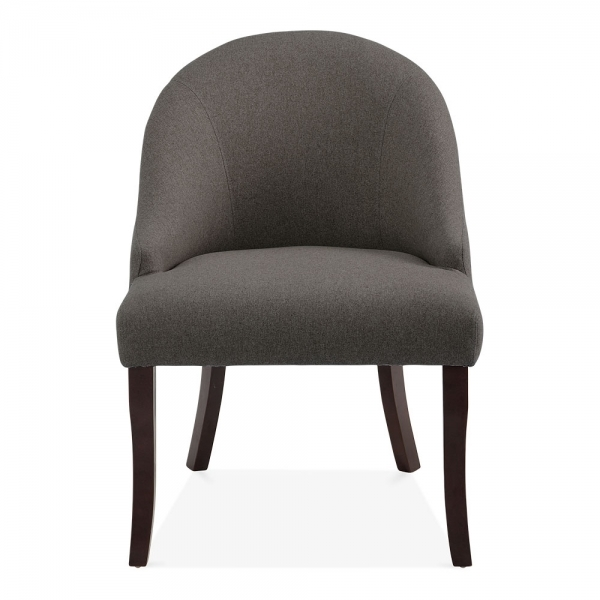 Dark Grey Accent Chairs: Dark Grey Wool Upholstered Harlow Accent Chair