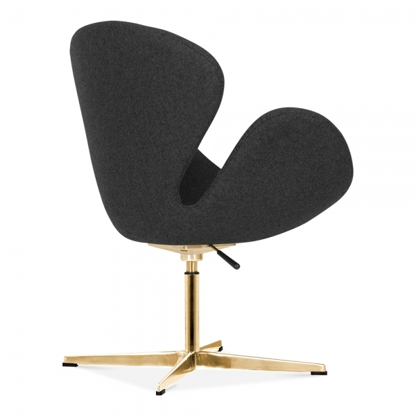Cult Living Swan Chair In Dark Grey With Gold Finish Leg Cult Uk