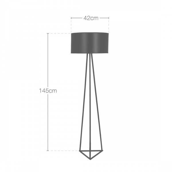 ... Cult Living Orion Geometric Metal Floor Lamp, Black. U2039