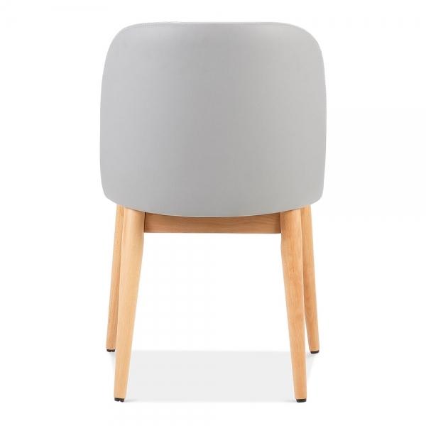 light grey leather upholstered jett dining chair restaurant dining. Black Bedroom Furniture Sets. Home Design Ideas