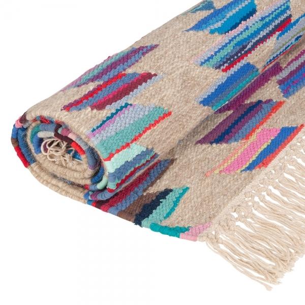Multi-Coloured Aztec Navajo Kilim Rug