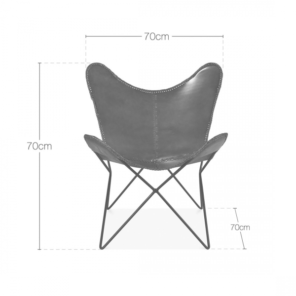 Brown Leather Xanthe Butterfly Chair Modern Accent Chairs