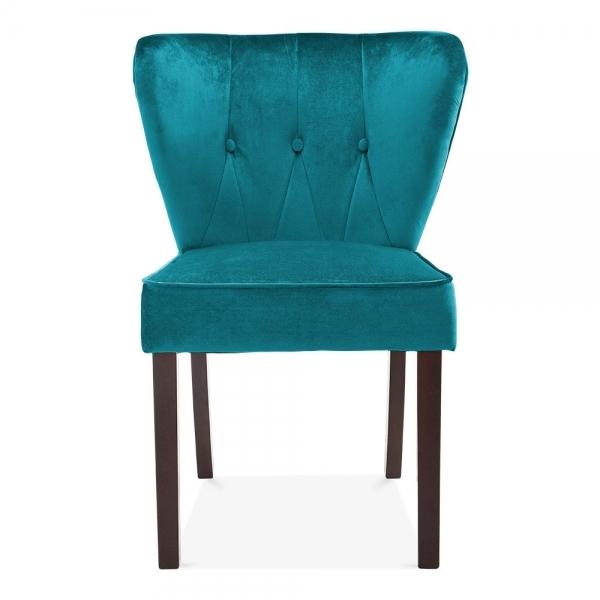 Teal Velvet Upholstered Chancery Dining Chair | Modern ...